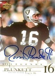 2001 Upper Deck Legends Autographs #JP2 Jim Plunkett