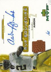 2001 Upper Deck MVP Souvenirs Autographs #ABS Aaron Brooks