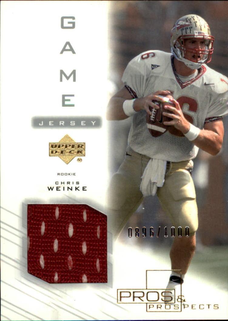 2001 Upper Deck Pros and Prospects #133 Chris Weinke JSY RC