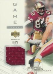 2001 Upper Deck Pros and Prospects Game Jersey #JRJ Jerry Rice