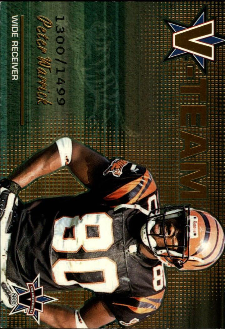 2001 Vanguard V-Team #3 Peter Warrick
