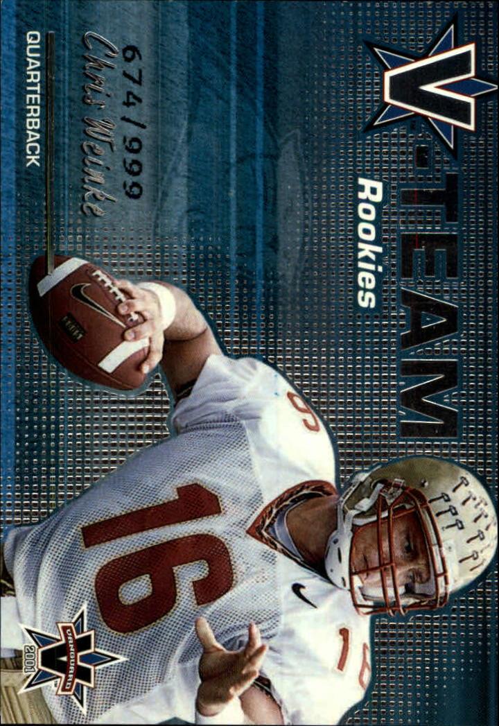 2001 Vanguard V-Team Rookies #3 Chris Weinke
