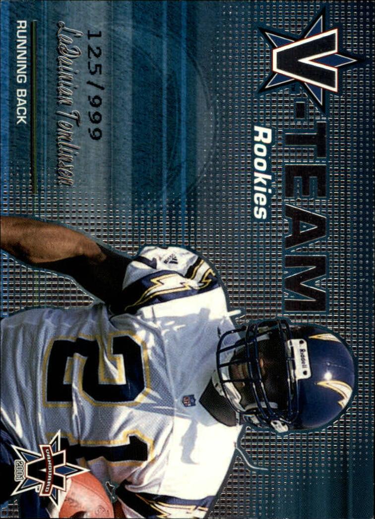 2001 Vanguard V-Team Rookies #27 LaDainian Tomlinson
