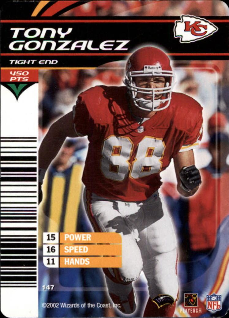 2002 NFL Showdown #147 Tony Gonzalez back image