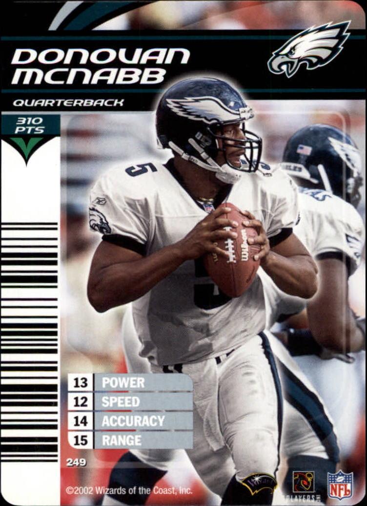 2002 NFL Showdown #249 Donovan McNabb back image