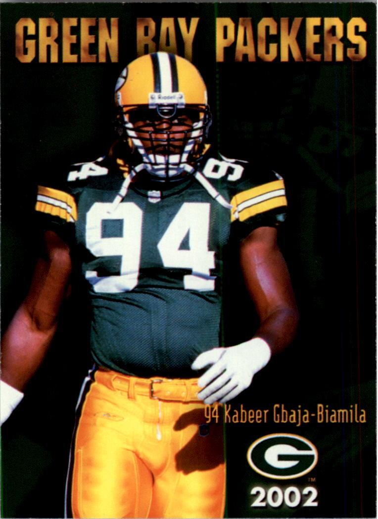 2002 Packers Police #7 Kabeer Gbaja-Biamila