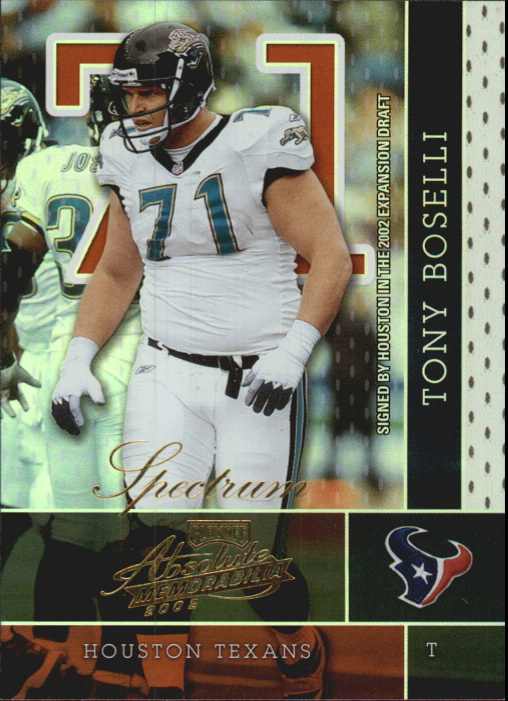 2002 Absolute Memorabilia Spectrum #135 Tony Boselli