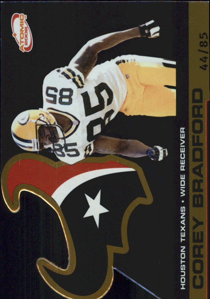 2002 Atomic Gold #39 Corey Bradford/85