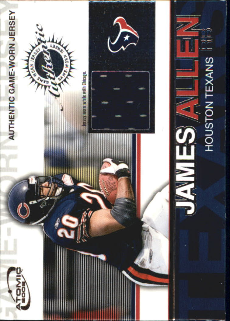 2002 Atomic Game Worn Jerseys #41 James Allen/241