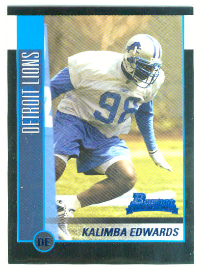2002 Bowman #129 Kalimba Edwards RC