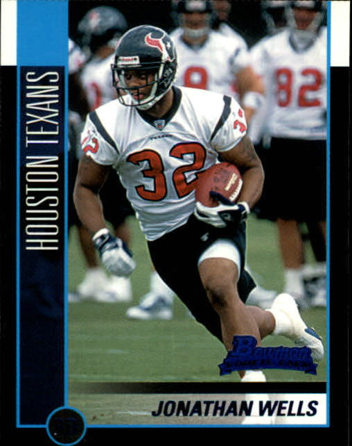 2002 Bowman #168 Jonathan Wells RC