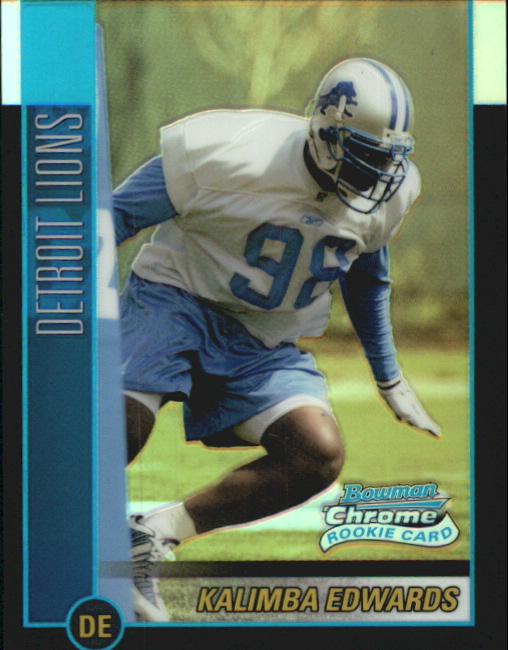 2002 Bowman Chrome Refractors #124 Kalimba Edwards