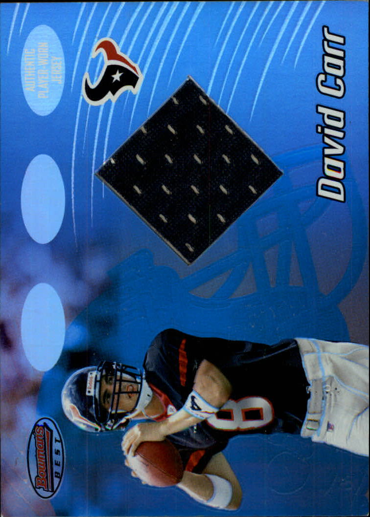 2002 Bowman's Best #91 David Carr JSY RC