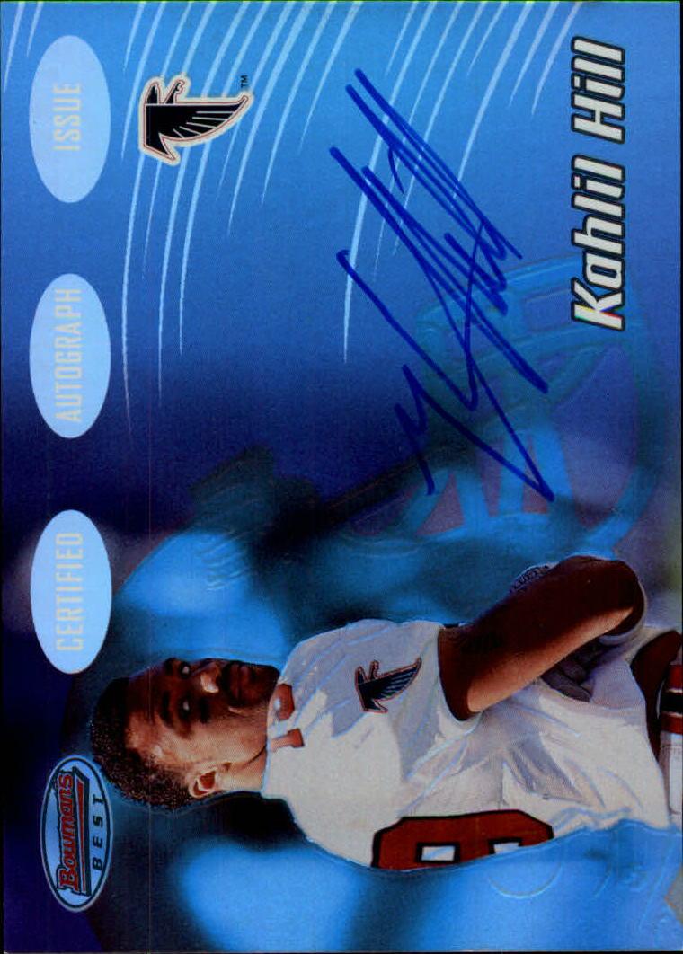 2002 Bowman's Best #145 Kahlil Hill AU RC