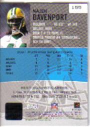 2002 Bowman's Best #155 Najeh Davenport AU RC back image