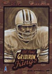 2002 Donruss All-Time Gridiron Kings Studio #AT3 Earl Campbell