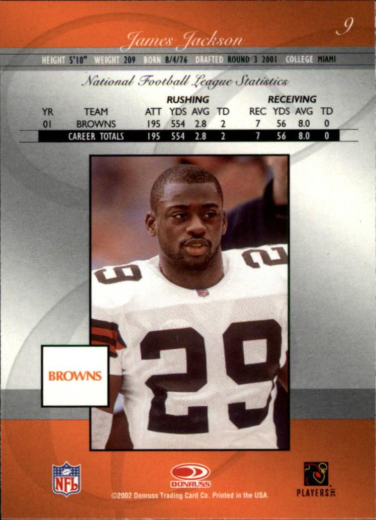2002 Donruss Elite #9 James Jackson back image