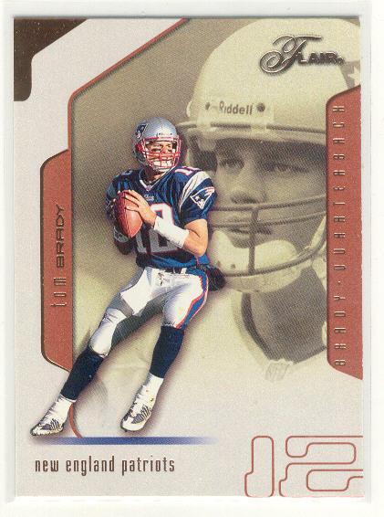 2002 Flair #89 Tom Brady