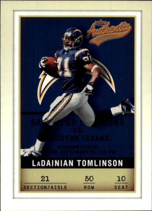 2002 Fleer Authentix #50 LaDainian Tomlinson
