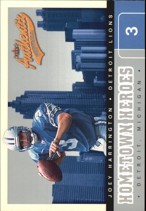 2002 Fleer Authentix Hometown Heroes #13 Joey Harrington