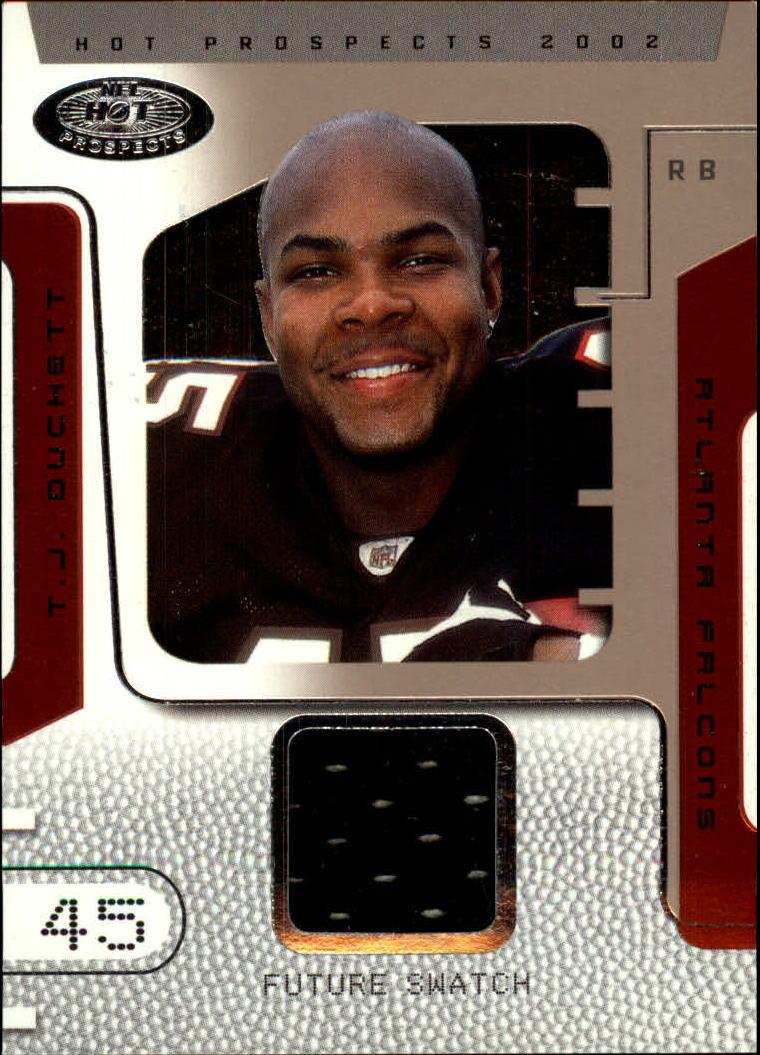 2002 Hot Prospects #107 T.J. Duckett JSY RC