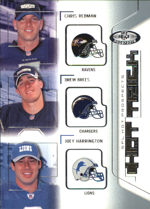 2002 Hot Prospects Hat Trick #HTRBH Chris Redman/Drew Brees/Joey Harrington
