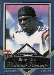 1f264b7e883 2002 Fleer Platinum Portraits Memorabilia  PPRM Randy Moss SP 393  ...