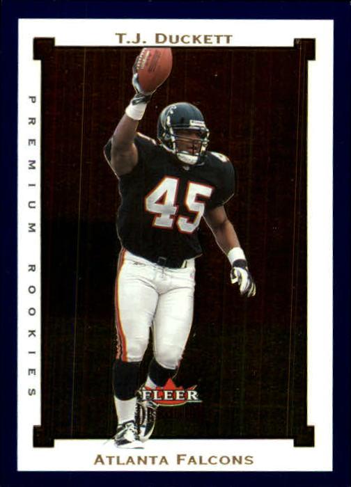 2002 Fleer Premium #143 T.J. Duckett RC