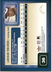 2002 Fleer Showcase #36 LaDainian Tomlinson back image