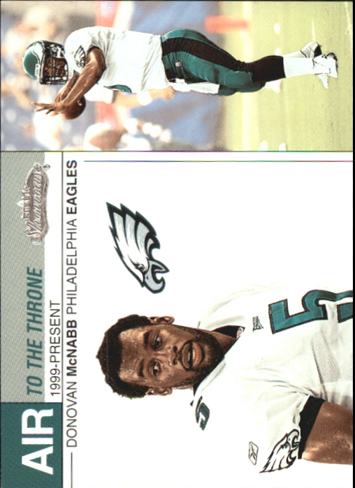 2002 Fleer Showcase Air to the Throne #AT9 Donovan McNabb