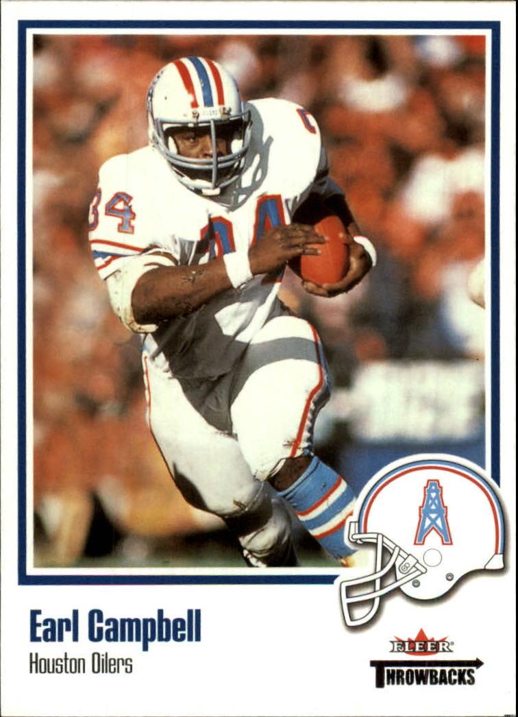 2002 Fleer Throwbacks #21 Earl Campbell