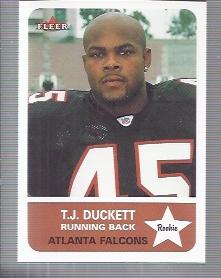 2002 Fleer Tradition #265 T.J. Duckett RC