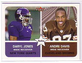 2002 Fleer Tradition #285 Andre Davis RC/Daryl Jones RC