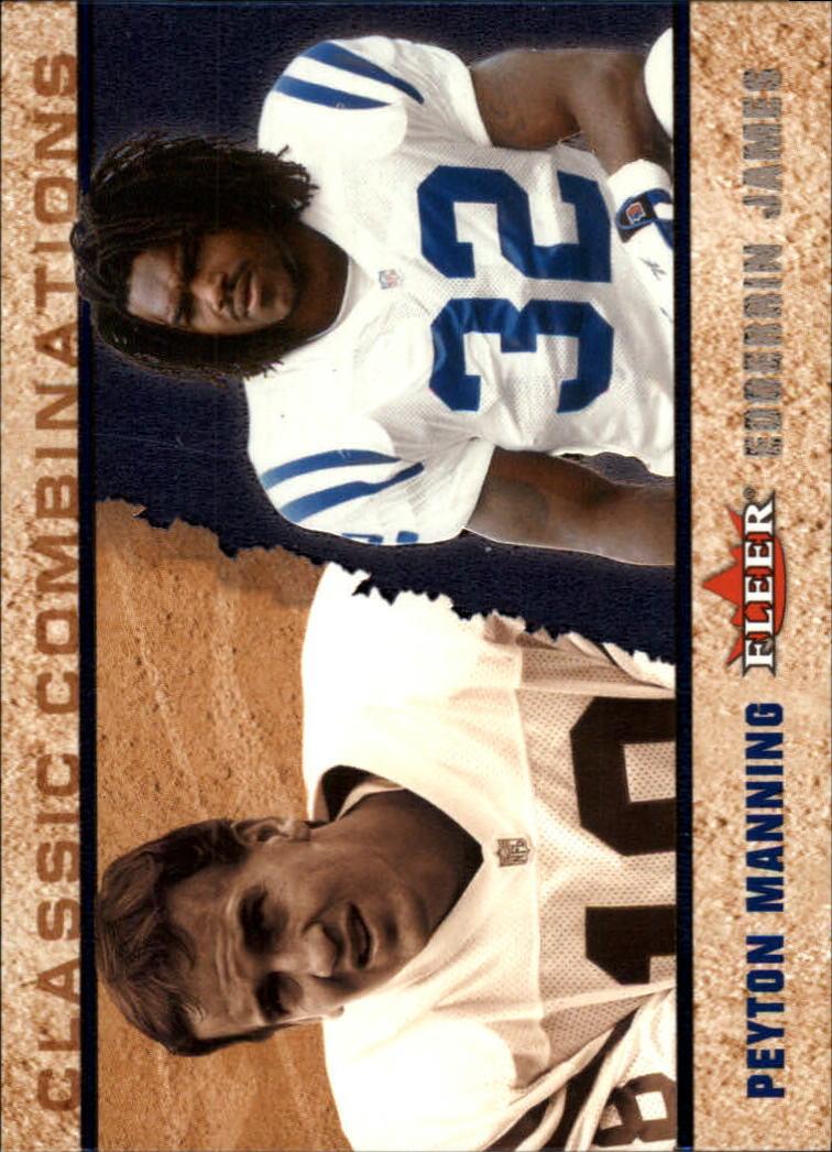 2002 Fleer Tradition Classic Combinations Hobby #5 Peyton Manning/Edgerrin James
