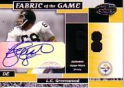 2002 Leaf Certified Fabric of the Game Autographs #22 L.C. Greenwood/68