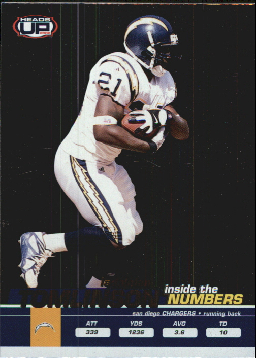 2002 Pacific Heads Up Inside the Numbers #23 LaDainian Tomlinson