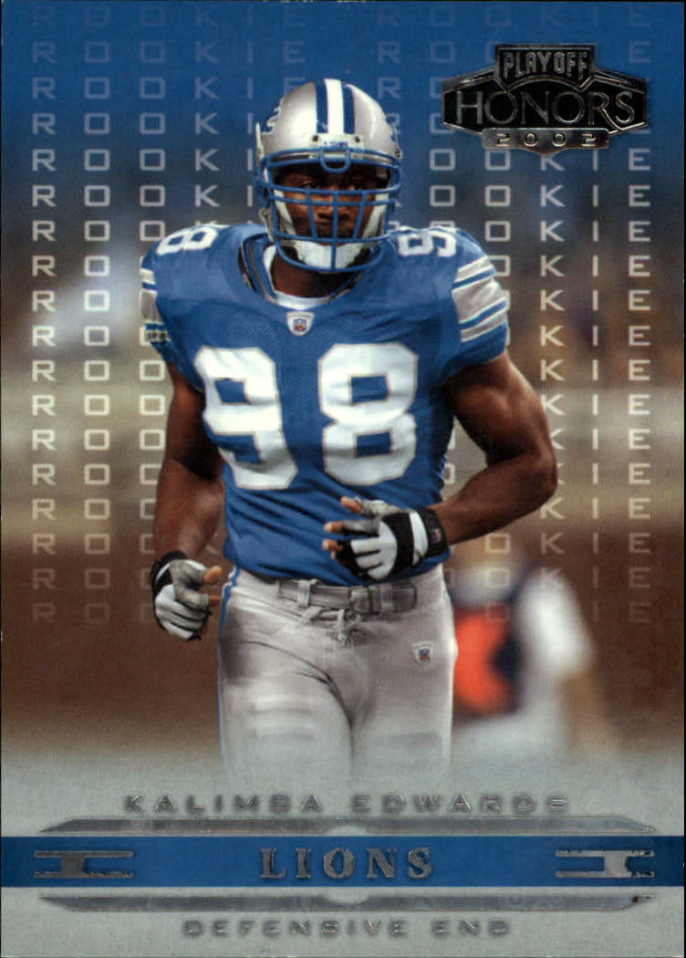 2002 Playoff Honors #161 Kalimba Edwards RC