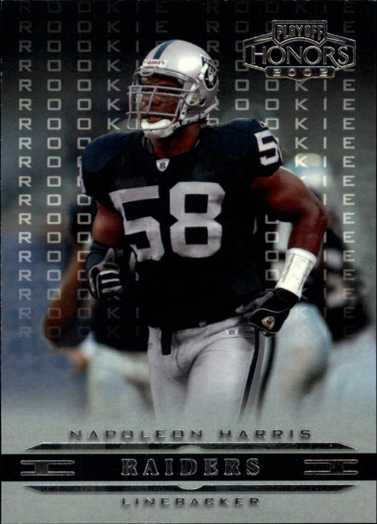 2002 Playoff Honors #186 Napoleon Harris RC
