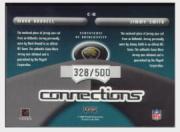 2002 Playoff Prestige Connections Jerseys #C11 Mark Brunell/Jimmy Smith back image