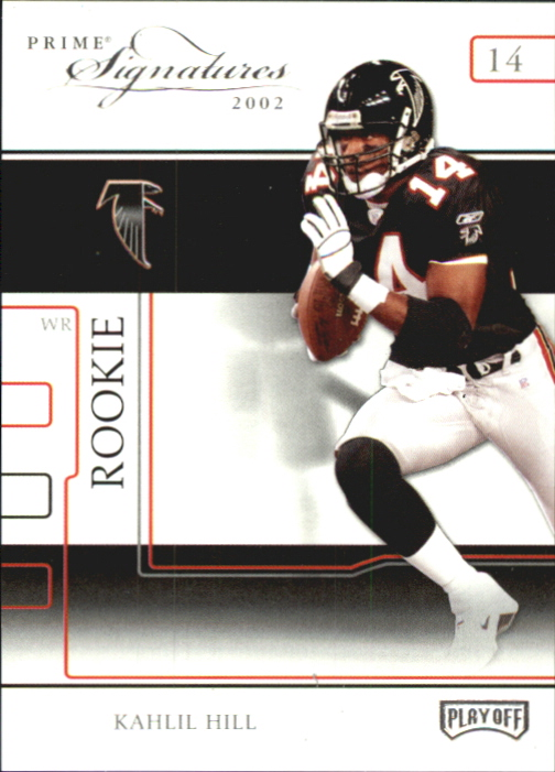 2002 Playoff Prime Signatures #80 Kahlil Hill RC