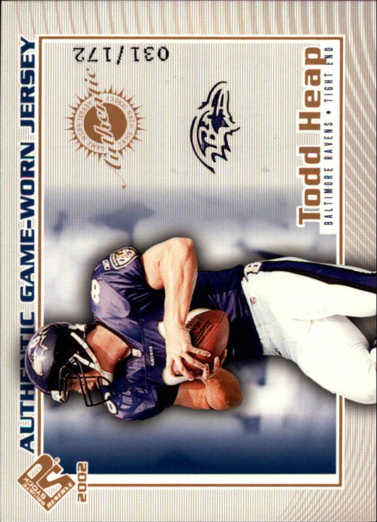 2002 Private Stock Game Worn Jerseys Logos #10 Todd Heap/172