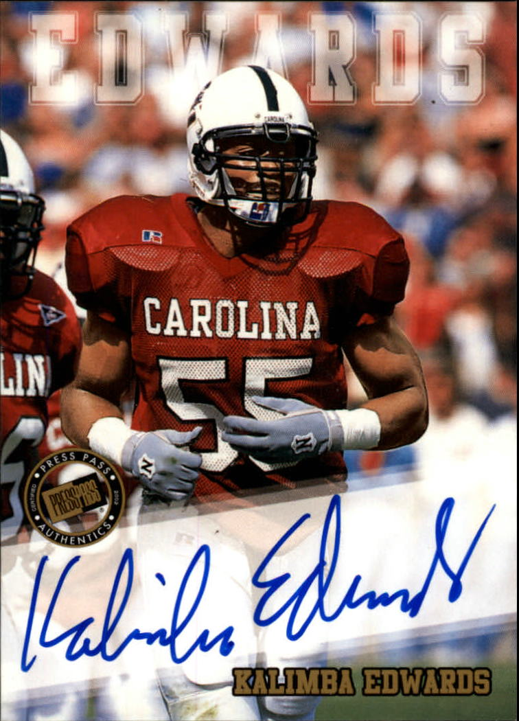 2002 Press Pass Autographs #12 Kalimba Edwards