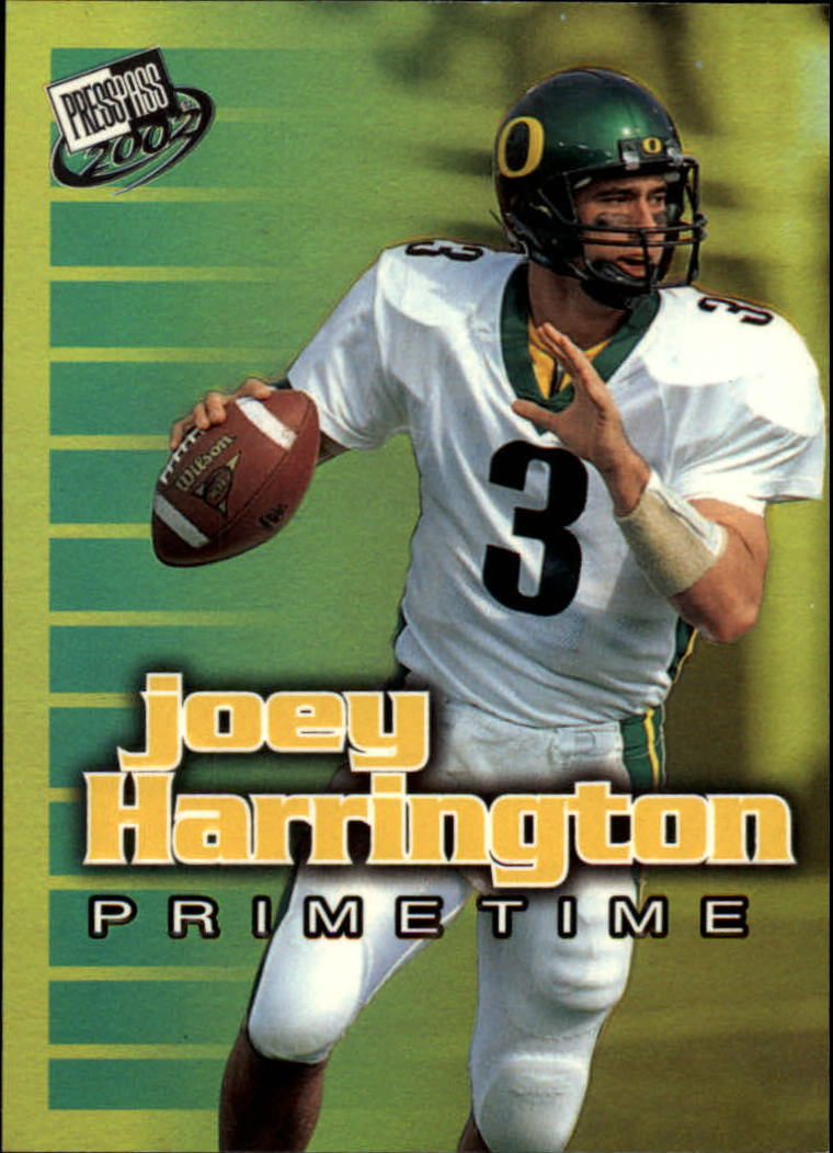 2002 Press Pass Primetime #PT2 Joey Harrington