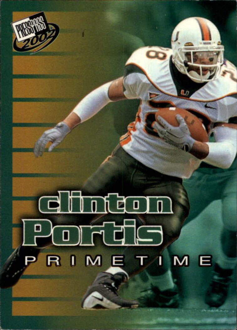2002 Press Pass Primetime #PT6 Clinton Portis