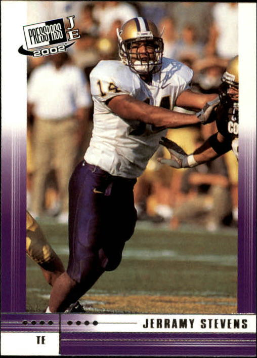 2002 Press Pass JE #19 Jerramy Stevens