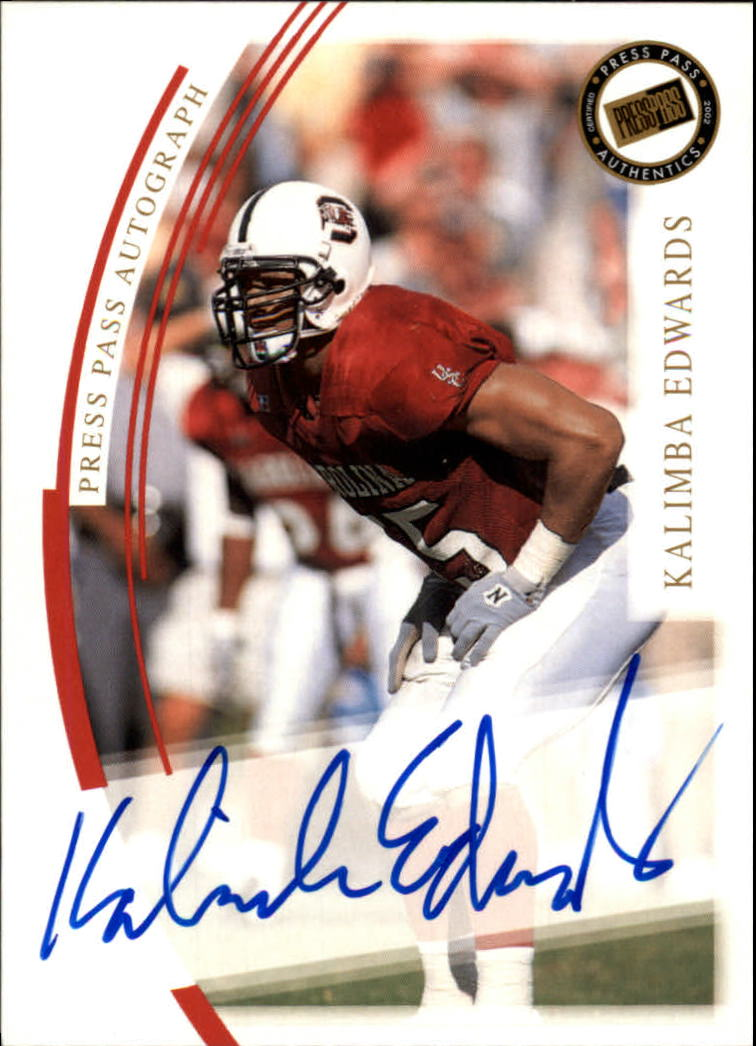 2002 Press Pass JE Autographs #12 Kalimba Edwards