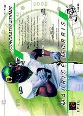 2002 Press Pass JE Game Used Jerseys #JEMM Maurice Morris back image