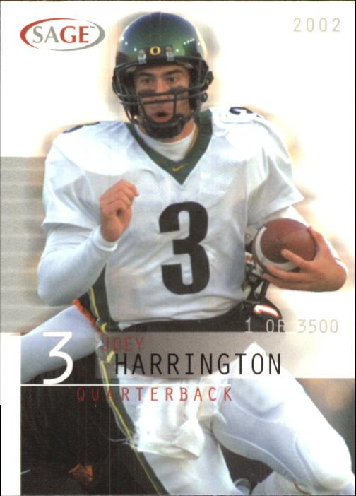 2002 SAGE #18 Joey Harrington