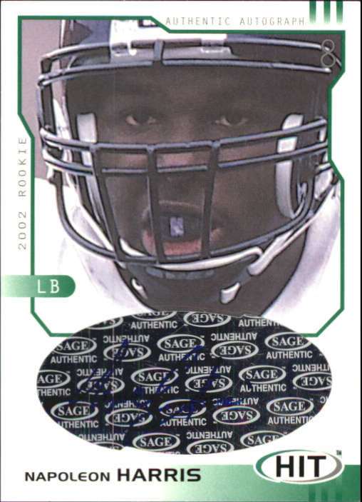 2002 SAGE HIT Autographs Emerald #H38 Napoleon Harris