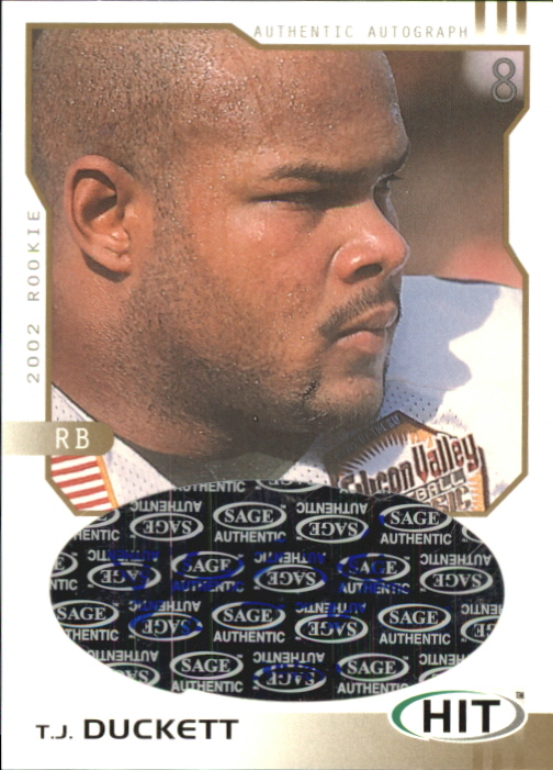 2002 SAGE HIT Autographs Gold #H18 T.J. Duckett
